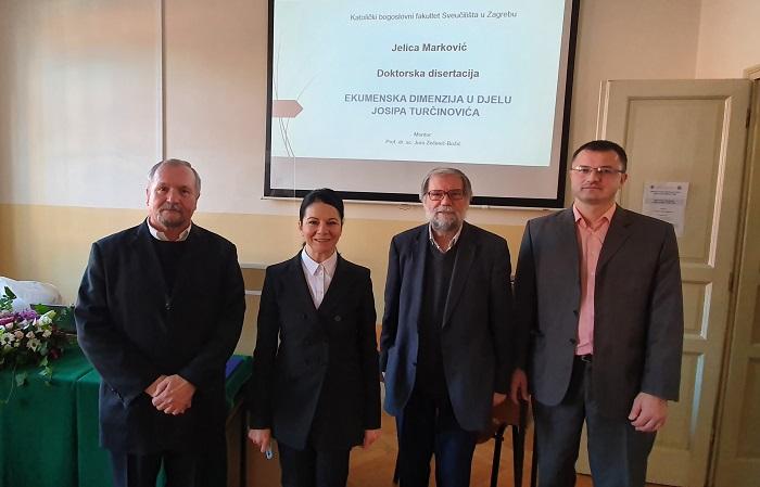 Jelica Marković doktorirala ekumensku teologiju na temu djela Josipa Turčinovića